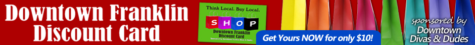 Downtown Franklin Discount Card
